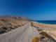 La strada che porta all'aeroporto a Kasos